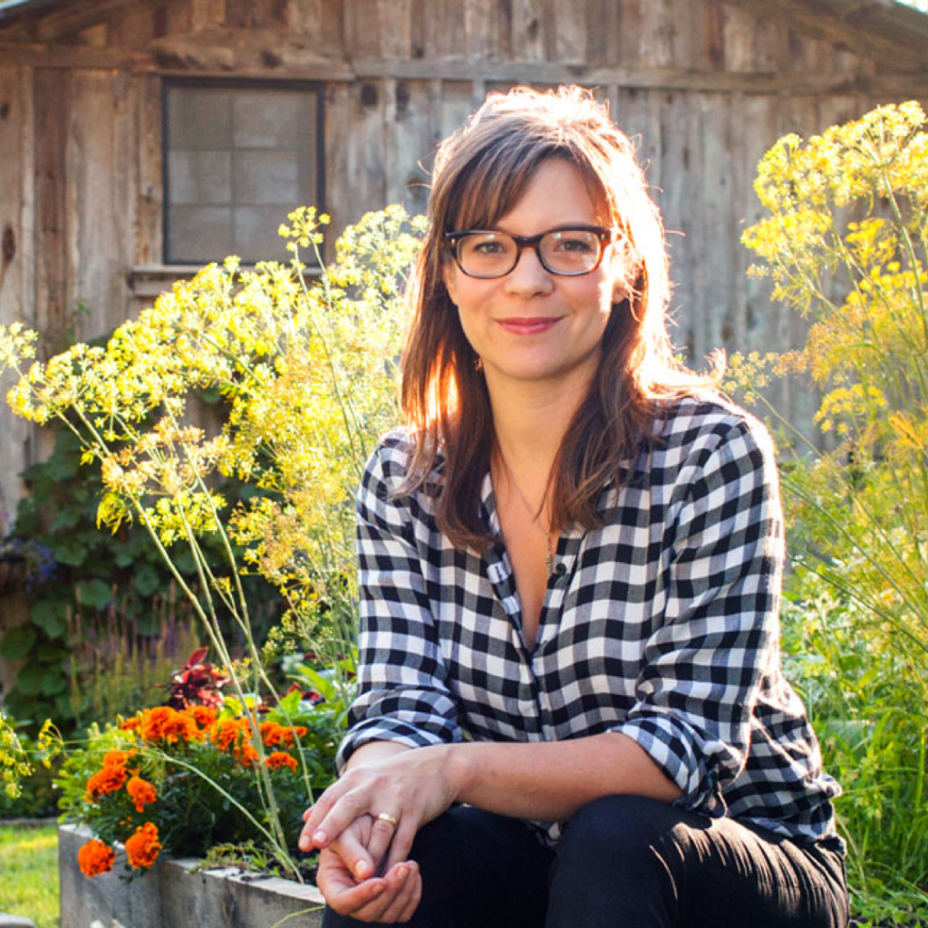 Amy Thielen in her Garden